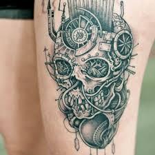 skull 8 skull thigh on tattoochief com