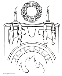 christmas wreath coloring pages 004