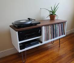 mid century record cabinet mid century modern record console ikea hackers