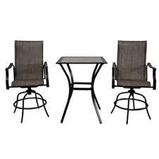 Balcony Height Patio Chairs Garden Treasures 3 Cascade Creek Sling Seat Steel Patio