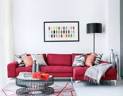modern living room furniture ideas living room decorating ideas with red couch makes room cheerful