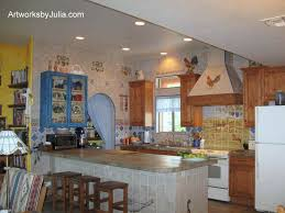 Kitchen Murals Backsplash by Julia U0027s European Style Country Kitchen Full View
