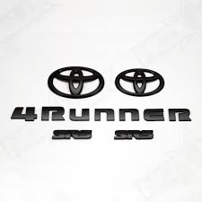 toyota logo for sale 2010 2018 toyota 4runner emblem overlay black out kit nox lux