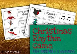 christmas rhythm game rhythm games flashcard and free printable