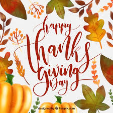 background of leaves and pumpkin of thanksgiving vector free