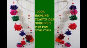 diy new door hanging crafts ideas gorgeous pom pom decorations