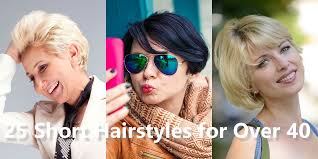 25 short hairstyles for women over 40 collections