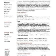 World Best Resume by Real World Sample Bartender Resume Written By Bar Veteran Use It