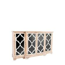 anne natural wood glass sideboard