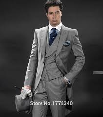 2015 mens suits designs morning suits slim fit two button groom