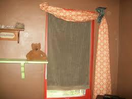 Orange And Brown Curtains Wondrous Shabby Chic Geometric Pattern Orange Curtains Added