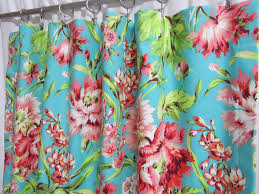 teal window curtains cottage floral bedroom curtains coral