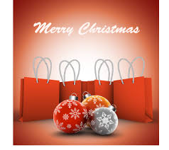 christmas shopping bags flral christmas with shopping bags vector background welovesolo