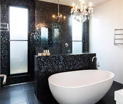 black bathroom tile ideas black bathroom tiles with glitter ideas and pictures