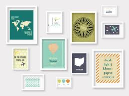 travel gallery wall nursery prints travel nursery decor