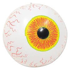eyeball decorations halloween amazon com beistle inflatable eyeball 16