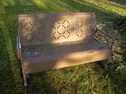 Metal Sofa Glider Porch Glider Patio U0026 Garden Furniture Ebay