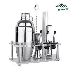 barware sets greenhill premium bar tool set 12 pieces barware cocktail shaker