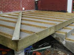 building a wooden deck a concrete one 6 steps with pictures