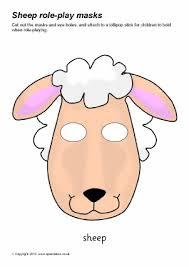 printable farm animal masks for kids sparklebox