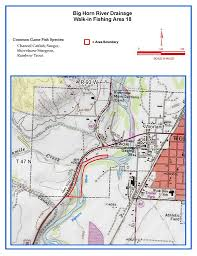map of thermopolis wyoming wyoming fishing network the big horn river