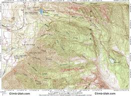Topographic Map Of Utah by Lone Peak Wasatch Mountains Hiking