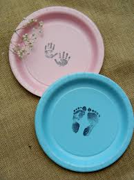 baby shower supplies online baby shower footprints and prints paper dessert cake plates