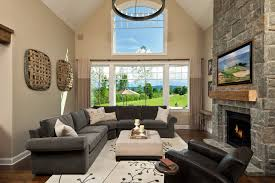 gray couch tan walls houzz