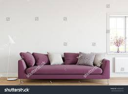 Livingroom Interior Mock Wall Sofa Living Room Interior Stock Illustration 543893497