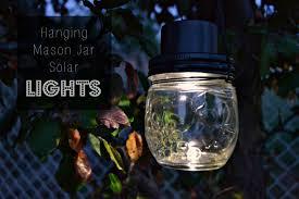 solar light crafts hanging mason jar solar lights how to make a hanging light