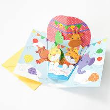 air balloon pop up kids birthday cards papyrus