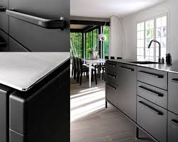 black kitchen details countertop vipp limitlessdesign and