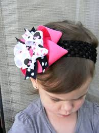 minnie mouse hair bow funky pink and black minnie mouse boutique hair bo