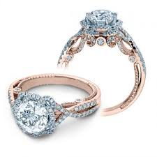 art deco rose gold engagement rings