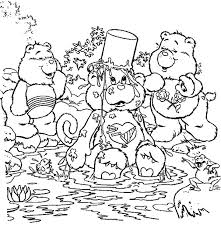 care bears falling pond bucket head coloring