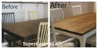 Diy Dining Room Tables Diy Project Refinishing Dining Room Table U0026 Chairs Super Coupon