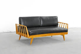 Mid Century Modern Leather Sofa by Cherry And Leather Sofa By Knoll Antimott Mid Century Modern