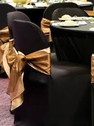 black spandex chair covers black spandex chair cover with simple gold sash chair covers