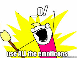 Memes Emoticons - o use all the emoticons all the things quickmeme