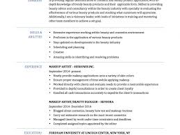 Art Resume Examples by Incredible Ideas Makeup Artist Resume 7 Makeup Artist Resume