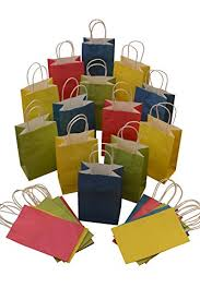 gift bags bulk assorted kraft gift bags solid colors small bulk set of 24 bags