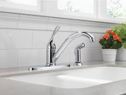 delta 400 dst single handle kitchen faucet with sidespray
