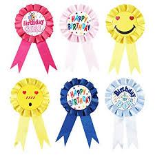 birthday ribbons set of 6 birthday ribbons participation ribbons