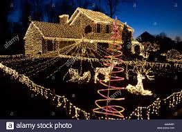 christmas lights in pa christmas lights west goshen chester county pa stock photo 12664066