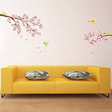Full Wall Stickers For Bedrooms Amazon Com Blossoms And Branches Decorative Peel U0026 Stick Wall Art