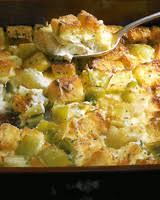 leek bread pudding meatless thanksgiving dish recipes