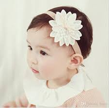 hair accessories for babies korean version lotus shape design flower headband lace belt