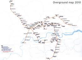 London On Map London Overground Train Rail Maps