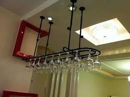 elegant and useful hanging wine glass rack wearefound home design