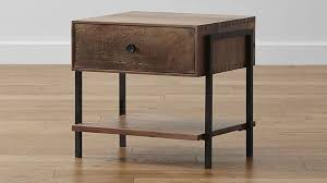 Metal Nightstands With Drawers Reclaimed Wood Nightstand With Metal Legs Med Art Home Design